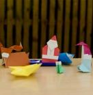Подготовка. Даешь мастер-класс оригами! Благотворительное новогоднее мероприятие 29 декабря 2013